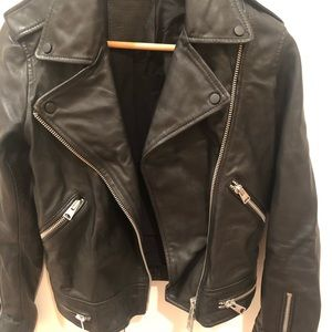 All saints leather jacket, almost new size 4